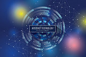 istock Polygonal geometric networking connection concept background 948775020
