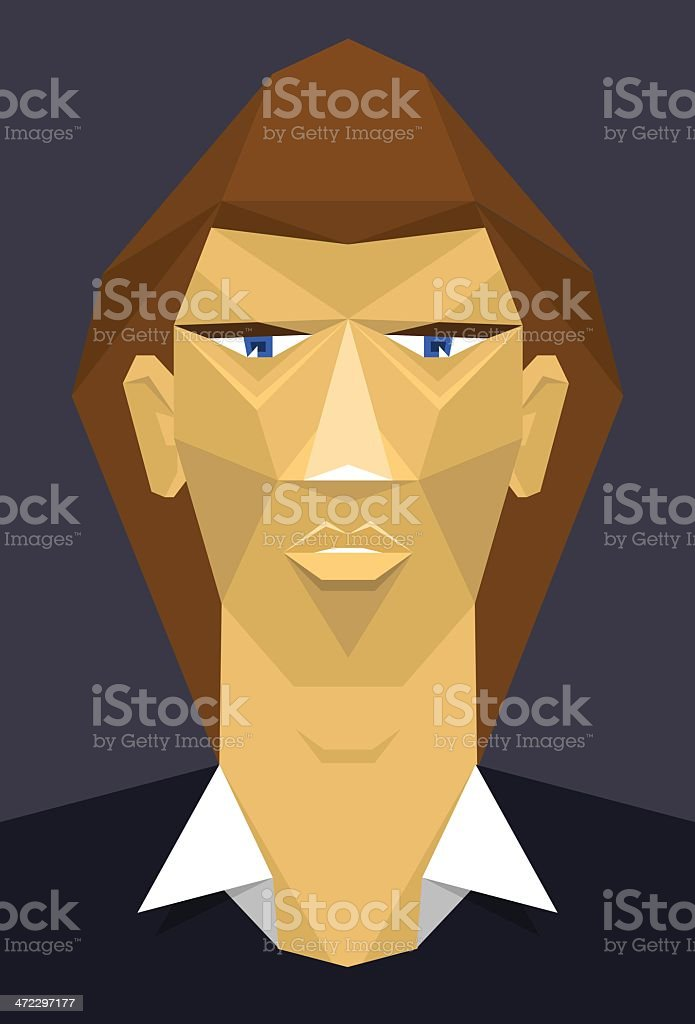 polygonal guy royalty-free stock vector art