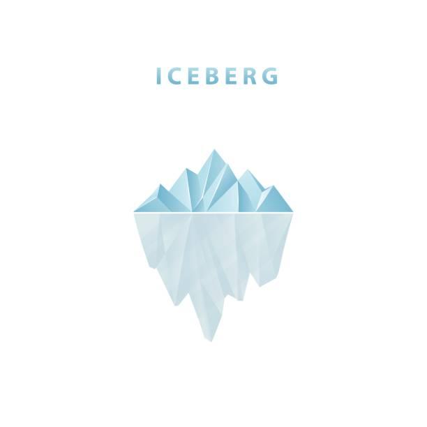 Polygonal iceberg in flat style. Iceberg icon. Polygonal iceberg in flat style. Iceberg icon. Vector illustration. arctic stock illustrations