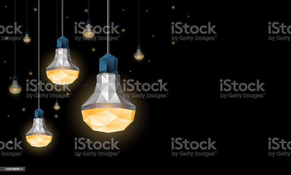 Polygonales Ampoules Led Suspendus Au Plafond Decor Declairage Avec