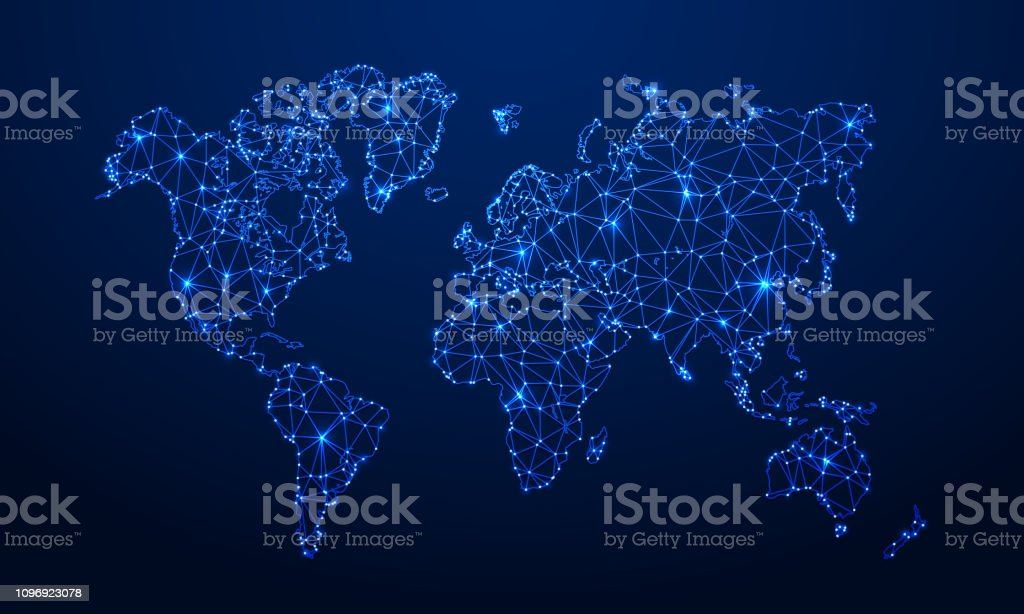 Polygonal map. Digital globe map, blue polygons earth maps and world internet connection 3d grid vector concept illustration polygonal map digital globe map blue polygons earth maps and world internet connection 3d grid vector concept illustration - immagini vettoriali stock e altre immagini di asia royalty-free