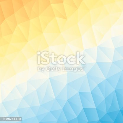 istock Polygonal mosaic with Orange gradient - Abstract geometric background - Low Poly 1235741119