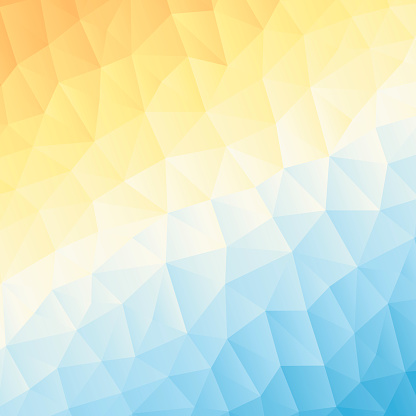 Polygonal mosaic with Orange gradient - Abstract geometric background - Low Poly
