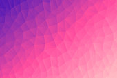 Modern and trendy abstract geometric background in a low poly style. Beautiful polygonal mosaic with a color gradient. This illustration can be used for your design, with space for your text (colors used: Orange, Pink, Purple). Vector Illustration (EPS10, well layered and grouped), wide format (3:2). Easy to edit, manipulate, resize or colorize.