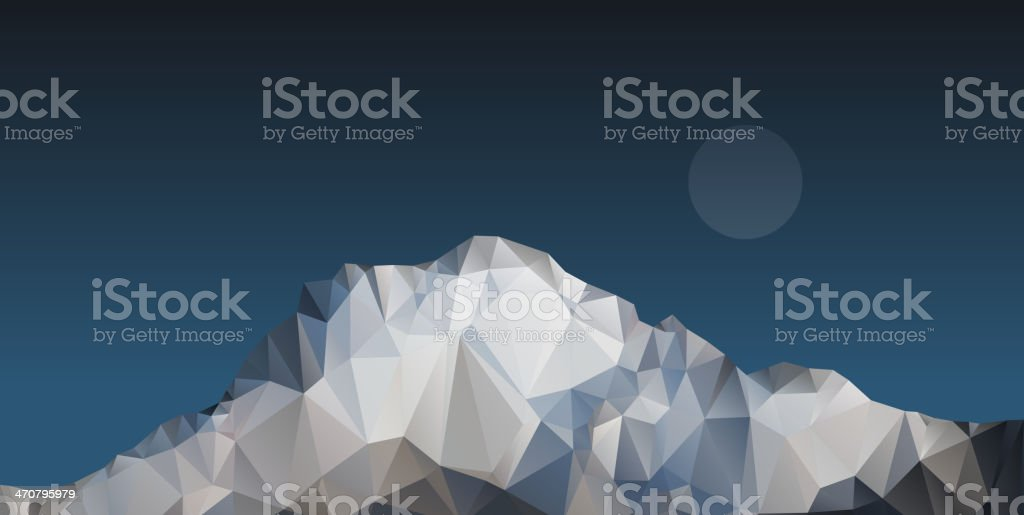 Polygonal mountain royalty-free stock vector art
