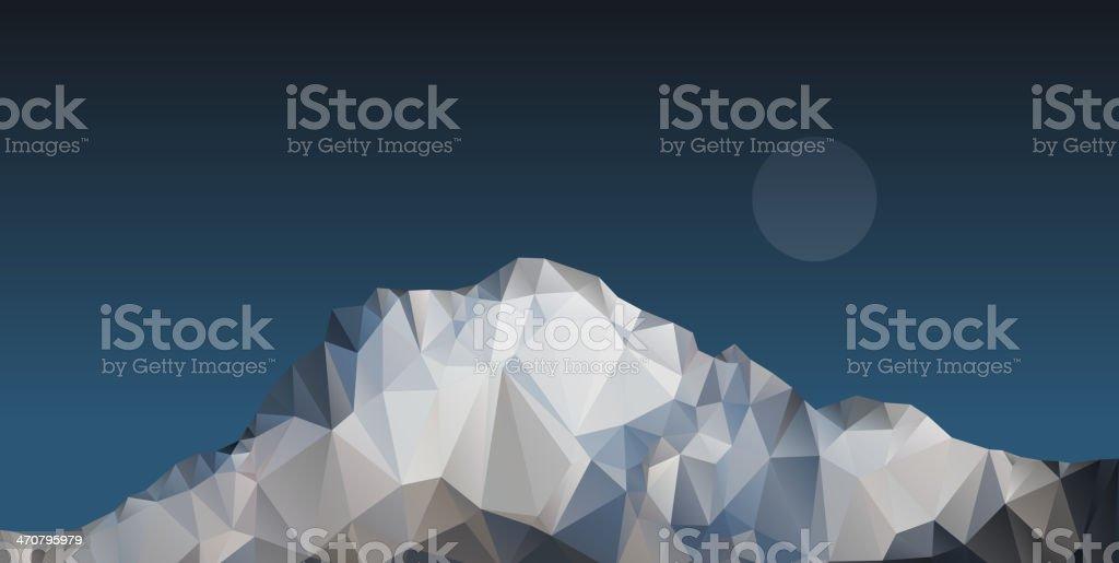 Polygonal mountain vector art illustration