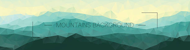 Polygonal mountains background. Geometric abstract landscape. – Vektorgrafik