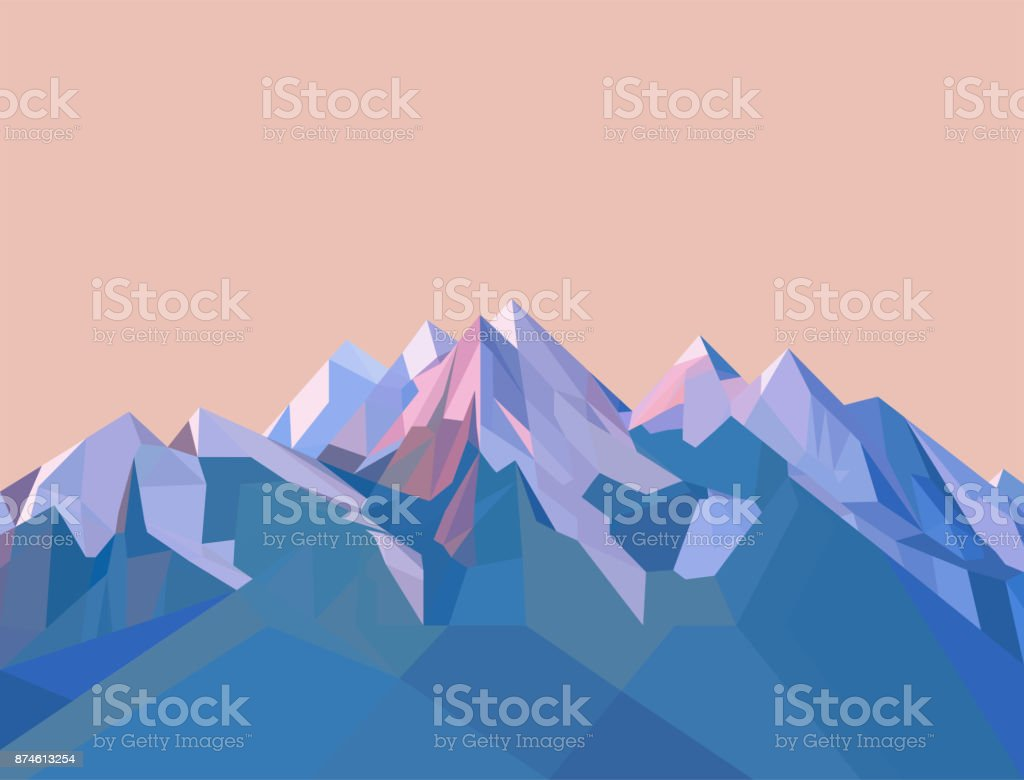 Polygonal Mountains - Royalty-free Abstract stock vector