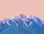 多角形の山々