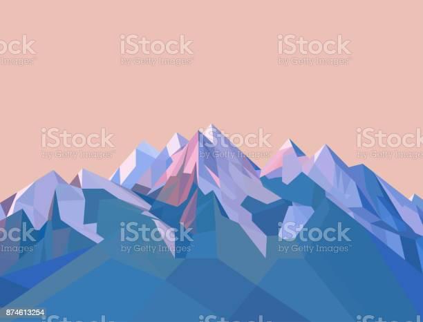 Polygonal Mountains Stock Illustration - Download Image Now