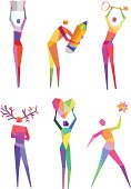 Polygonal People and Concept Symbols