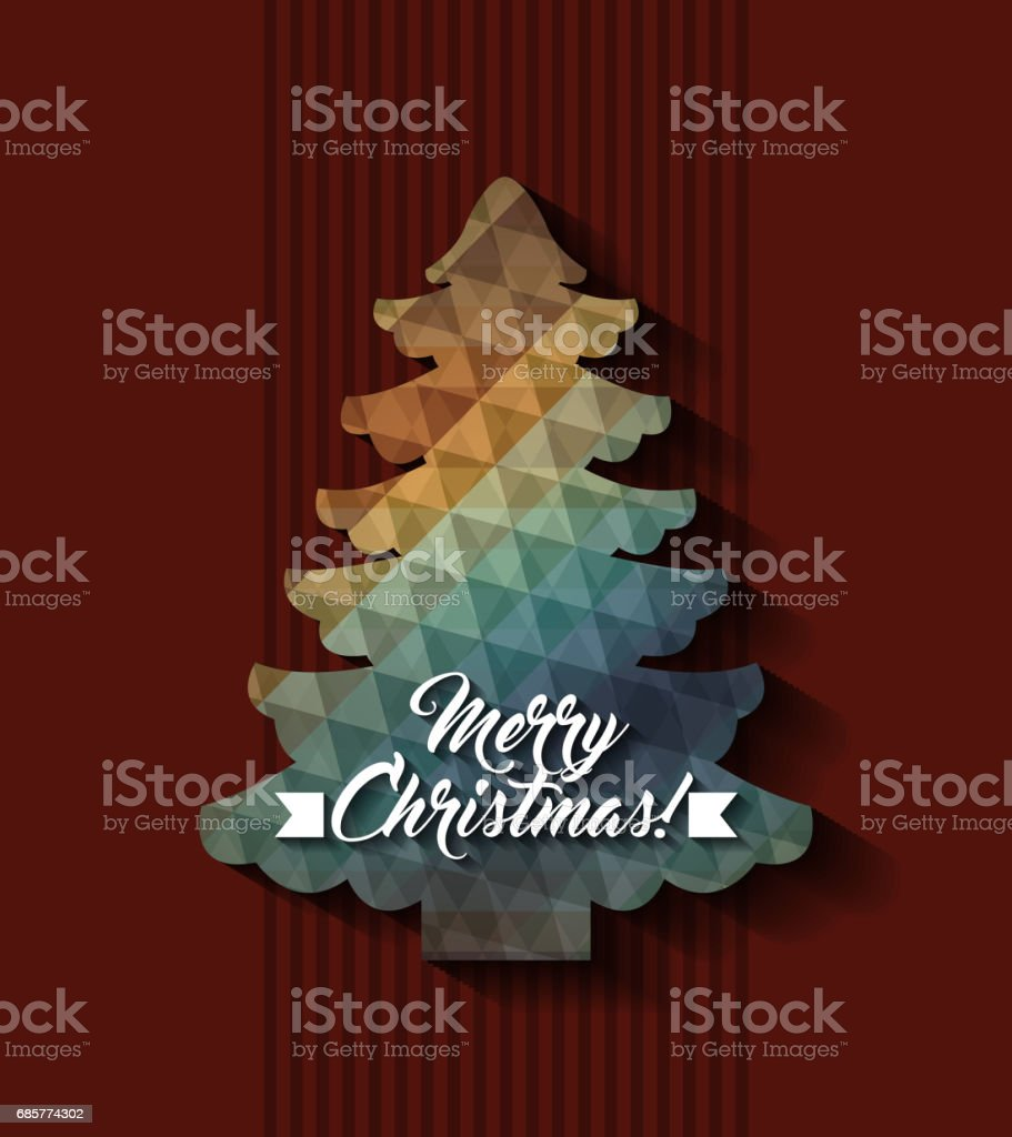 polygonal pine tree icon. Merry Christmas design. Vector graphic royalty-free polygonal pine tree icon merry christmas design vector graphic stock vector art & more images of arts culture and entertainment