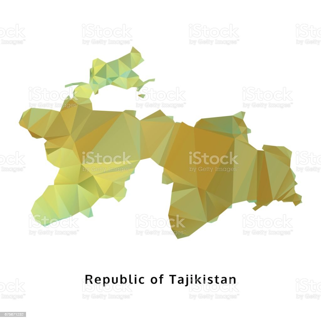 polygonal republic of Tajikistan map, polygon geometric map, isolated vector royalty-free polygonal republic of tajikistan map polygon geometric map isolated vector stock vector art & more images of asia