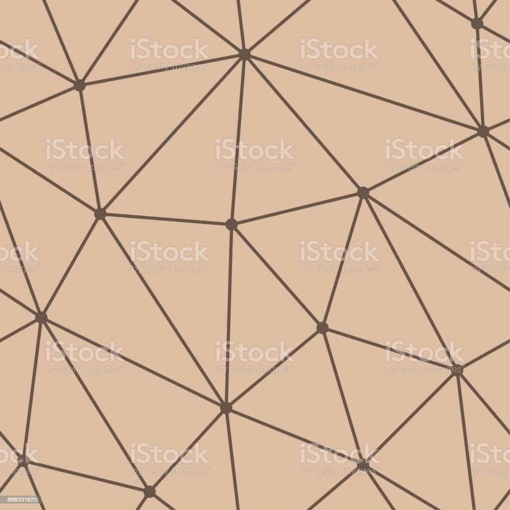 Polygonale Nahtlose Hintergrund. Geometrische Braun Beige Linienmuster Für  Tapeten Und Textilien Lizenzfreies Polygonale Nahtlose Hintergrund