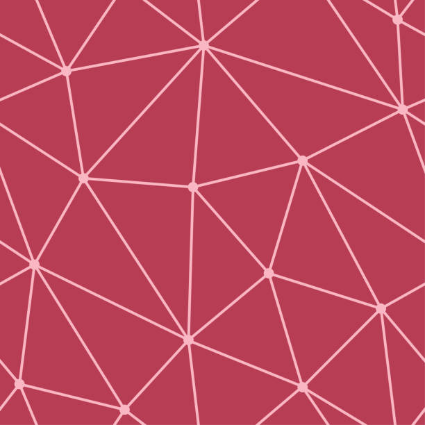 Bекторная иллюстрация Polygonal seamless background. Geometric line cherry red pattern for wallpapers and textile