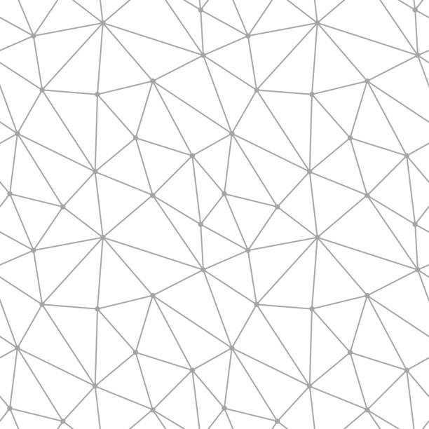 Bекторная иллюстрация Polygonal seamless background. Geometric line gray pattern for wallpapers and textile