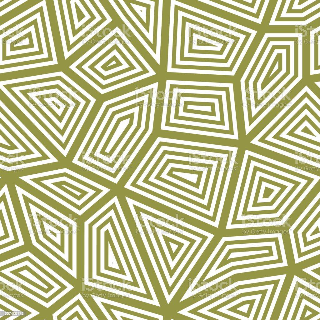 Polygonal Seamless Background Geometric Line Olive Green