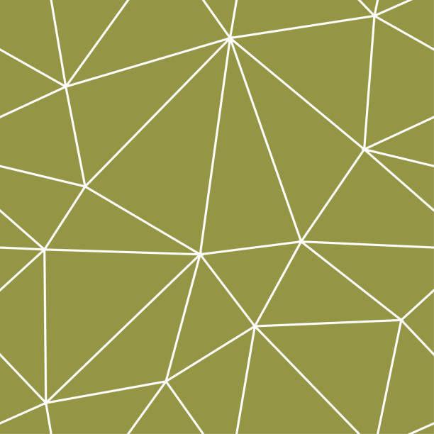 Bекторная иллюстрация Polygonal seamless background. Geometric line olive green pattern for wallpapers and textile