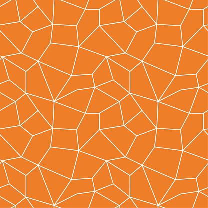 Polygonal Seamless Background Geometric Line Orange Pattern For Wallpapers And Textile - Immagini vettoriali stock e altre immagini di Agrume