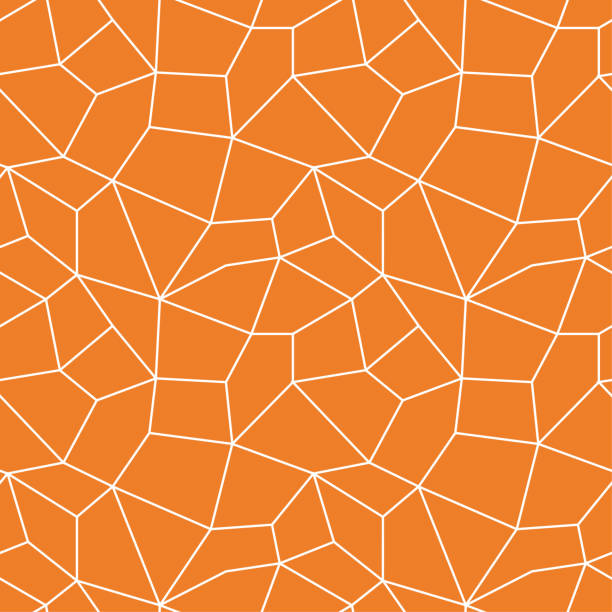 Bекторная иллюстрация Polygonal seamless background. Geometric line orange pattern for wallpapers and textile