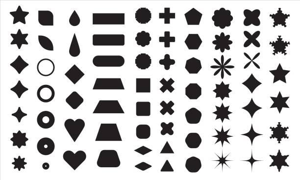 ilustrações de stock, clip art, desenhos animados e ícones de polygonal shapes - forma