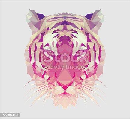 istock Polygonal Tiger Portrait 578563192
