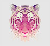 Polygonal Tiger Portrait