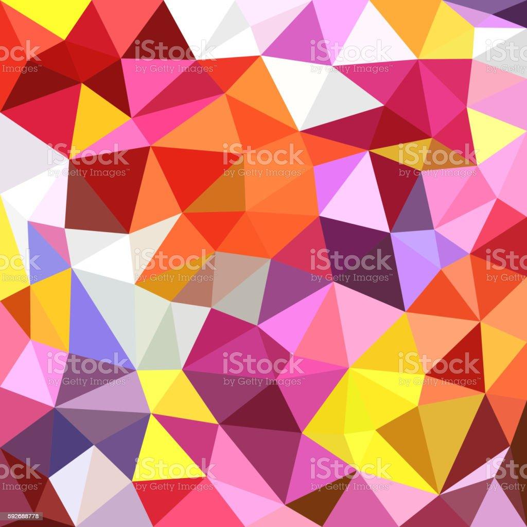 Polygonal triangles background vector art illustration