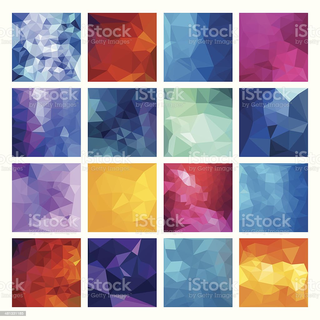 Polygonal  vector background. vector art illustration