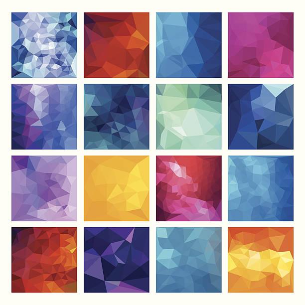 Polygonal  vector background. vector art illustration