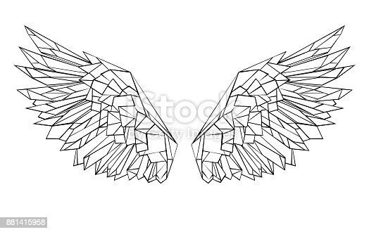 istock Polygonal wings 881415958
