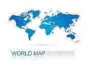 Polygonal World Map,vector
