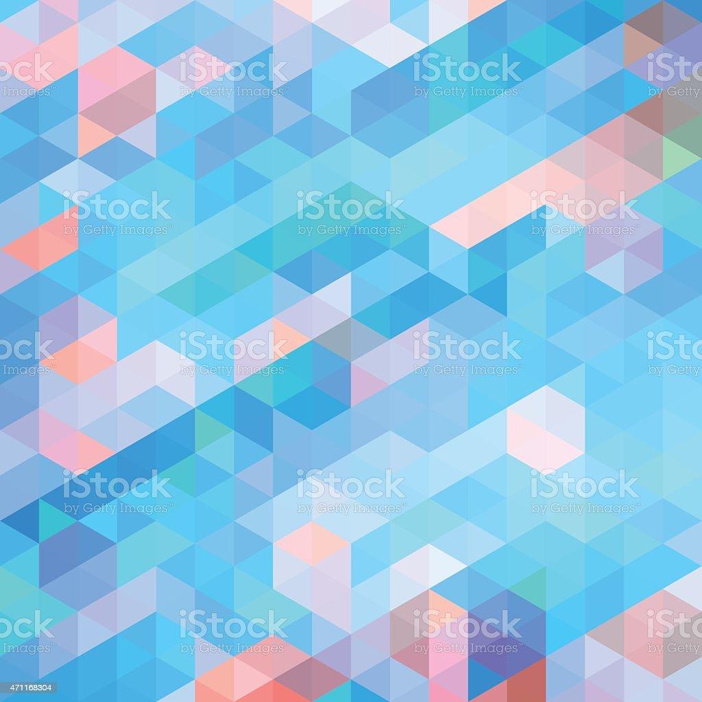 Polygons art pattern made of triangles vector art illustration