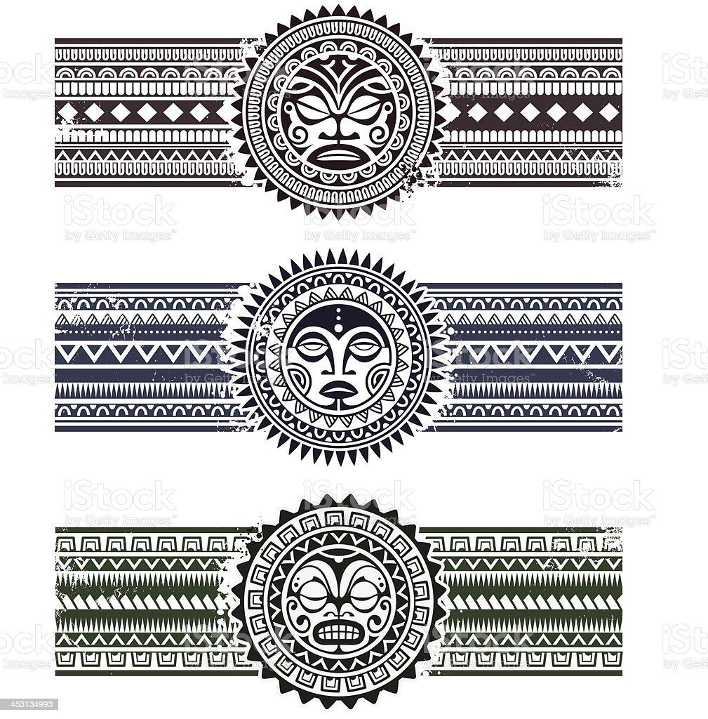 Bracelet Polynésien Tatouage pour motif polynésien bracelets stock vecteur libres de droits