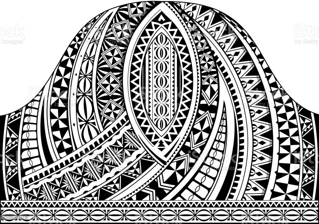 Polynesian Style Half Sleeve Tattoo Template Stock Vector Art More