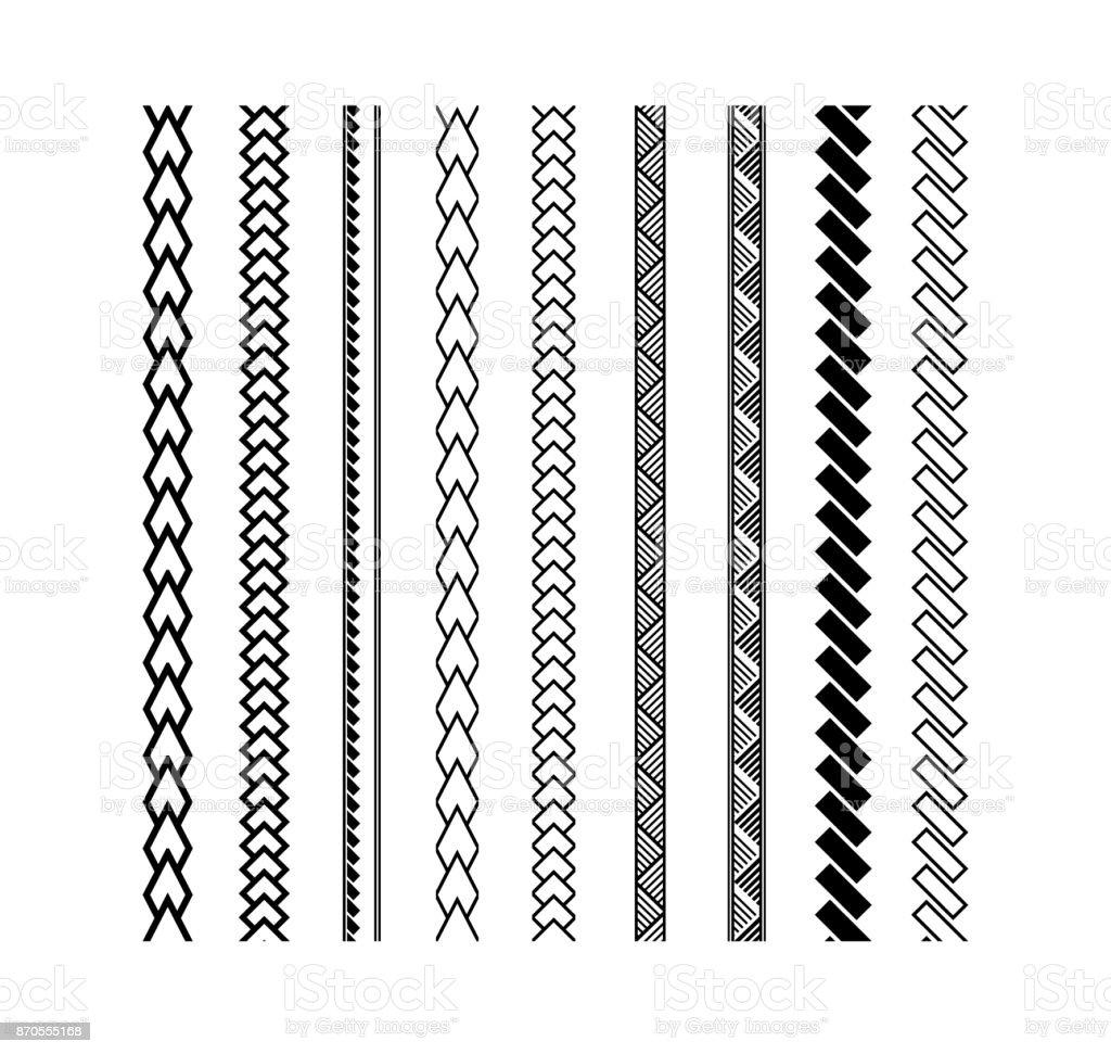 Polynesian tattoo style brush vector design vector art illustration