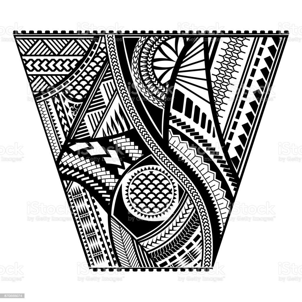 Design de vetor de manga de estilo polinésio tatuagem - ilustração de arte em vetor