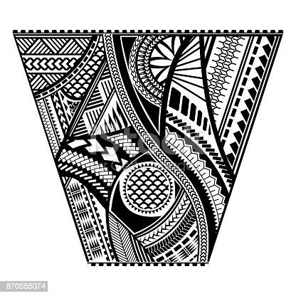 Polynesian tattoo style sleeve vector design stock vector for Vector tattoo sleeve