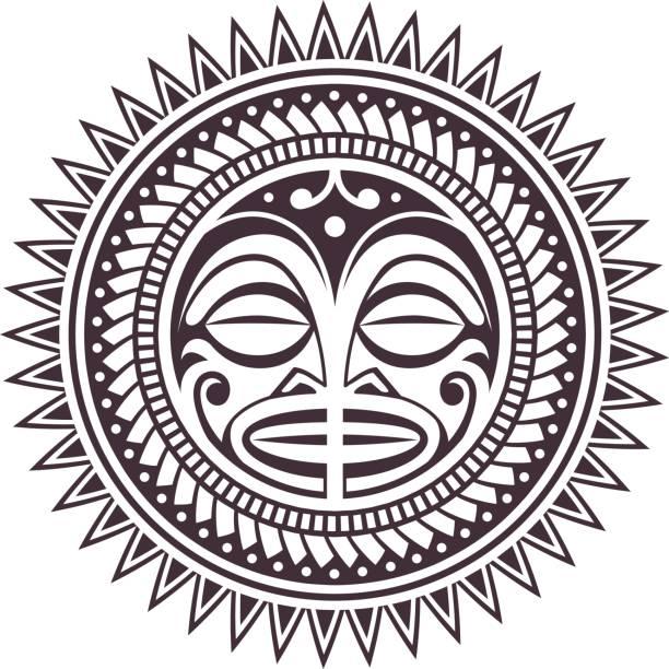 Polynesian Vector Mask vector art illustration