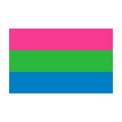Polysexual Pride Flag on Transparent Background