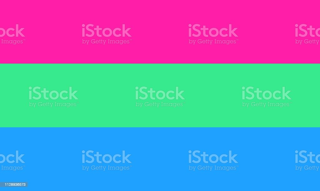 Polysexual pride flag - one of the sexual minority of LGBT community vector art illustration