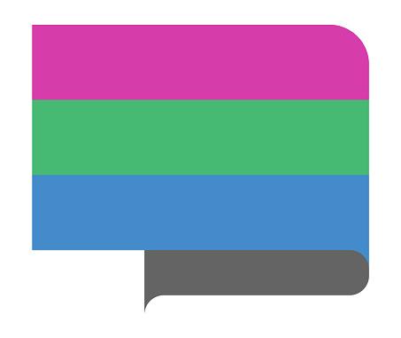 Polysexual pride flag