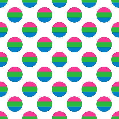 Polysexual Pride LGBTQIA Flag Pattern