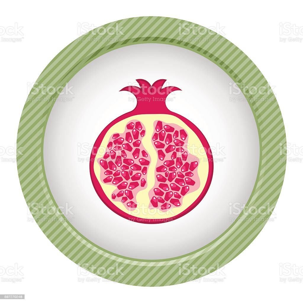 Granatapfel bunte symbol Lizenzfreies granatapfel bunte symbol stock vektor art und mehr bilder von einzelner gegenstand