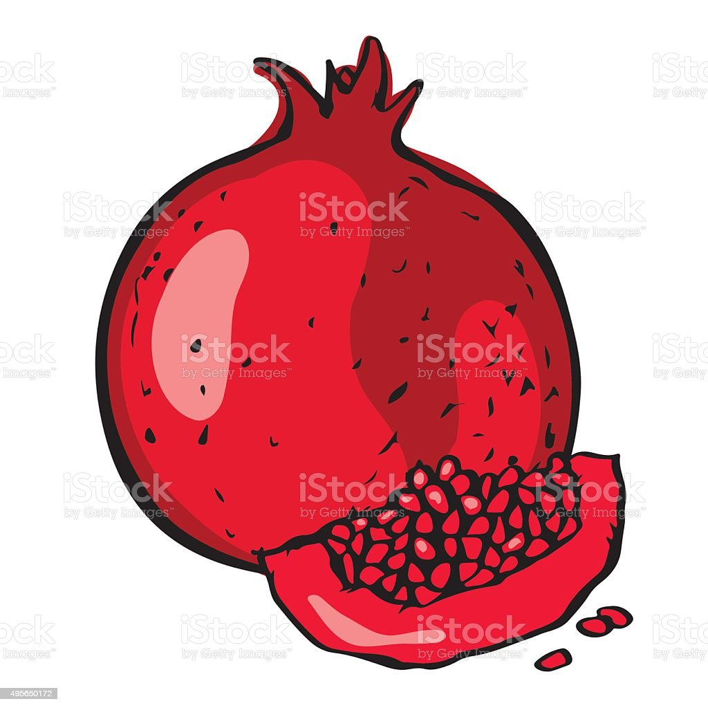 royalty free pomegranate seed clip art vector images rh istockphoto com pomegranate clipart outline pomegranate clip art free