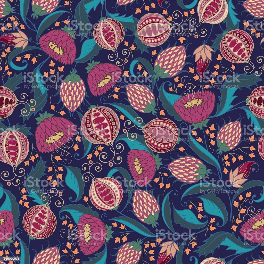 Pomegranate Pattern vector art illustration
