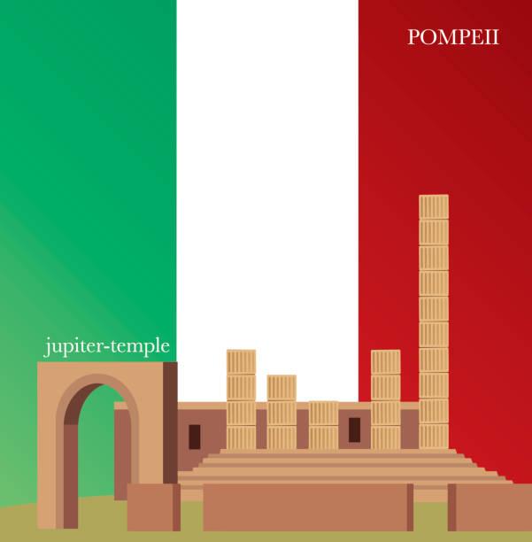 pompeji, jupiter-tempel - pompeii stock-grafiken, -clipart, -cartoons und -symbole