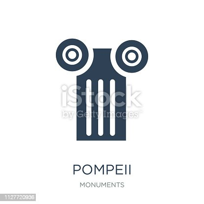 pompeii icon vector on white background, pompeii trendy filled icons from Monuments collection