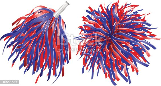 Pompoms Stock Vector Art & More Images of Blue 165587709 ...