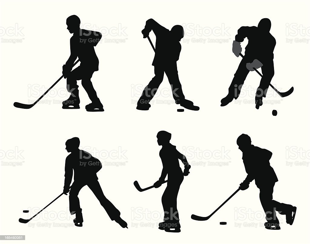 Pond Hockey Vector Silhouette Stock Illustration Download Image Now Istock